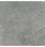 Bodenfliese Premium Marble Brescia Dark Grey Glänzend - 90 cm x 90 cm x 1,15