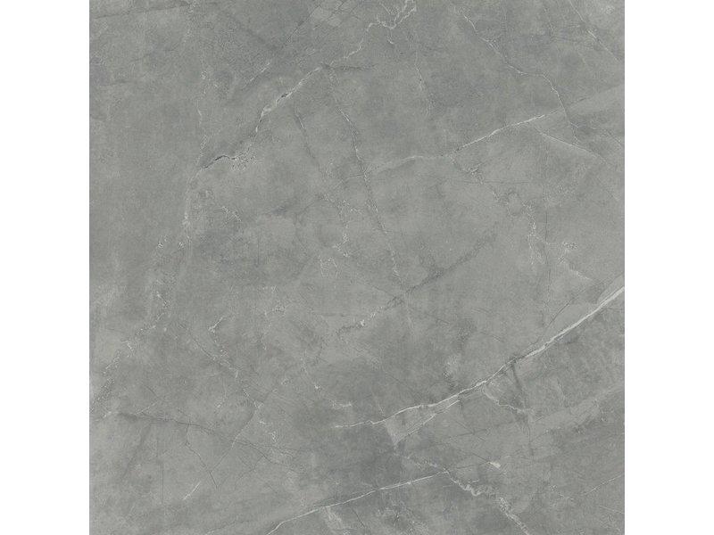 Bodenfliese Premium Marble Brescia Dark Grey Glaenzend - 60 cm x 120 cm x 1,1