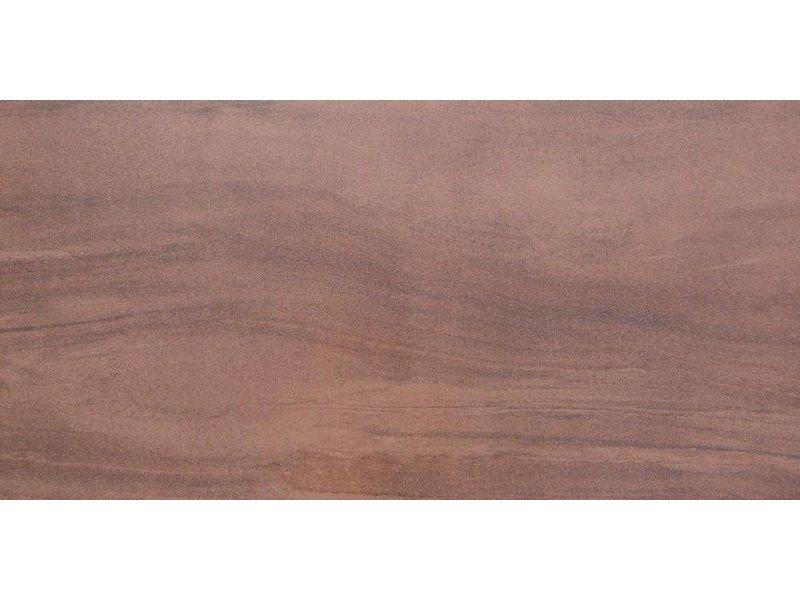 Bodenfliese Sahara Braun Feinsteinzeug glasiert lappato - 45 cm x 90 cm x 1 cm