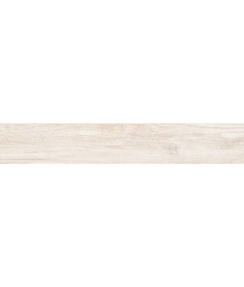 Bodenfliese Savanna Pearl Feinsteinzeug glasiert matt - 15 cm x 90 cm x 1 cm
