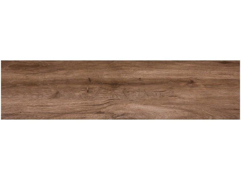 Bodenfliese Strobus Wood Oak Feinsteinzeug glänzend - 22 cm x 90 cm x 1 cm