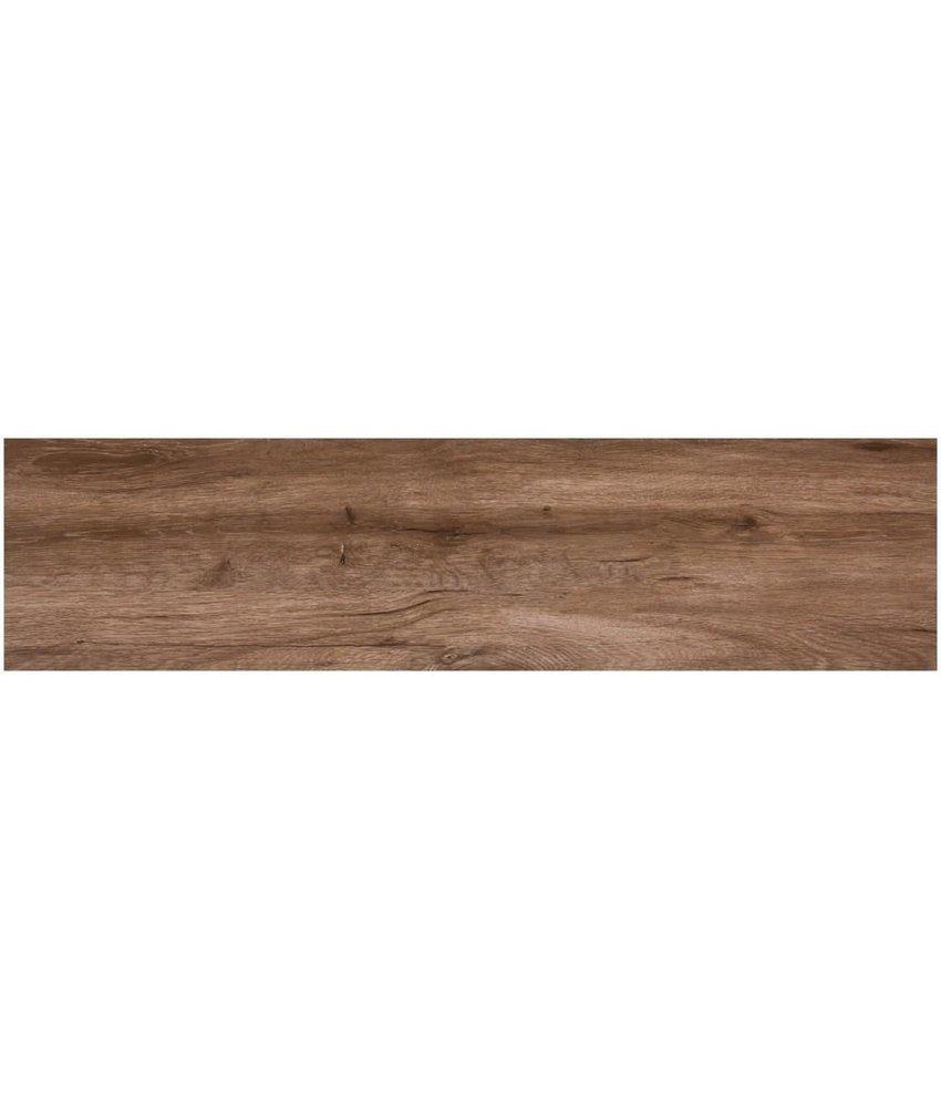 Bodenfliese Strobus Oak Feinsteinzeug poliert - 22 cm x 90 cm x 1 cm