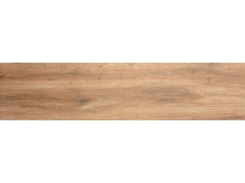 Bodenfliese Strobus Wood Pine Feinsteinzeug glänzend - 22 cm x 90 cm x 1 cm