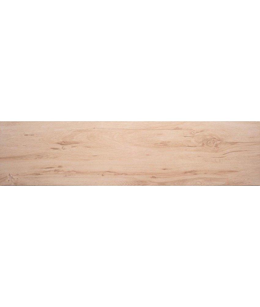 Bodenfliese Strobus Wood Birch Feinsteinzeug glänzend - 22 cm x 90 cm x 1 cm