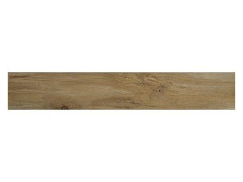 Bodenfliese Tavia Beige Feinsteinzeug glasiert matt - 20 cm x 120 cm x 0,9 cm