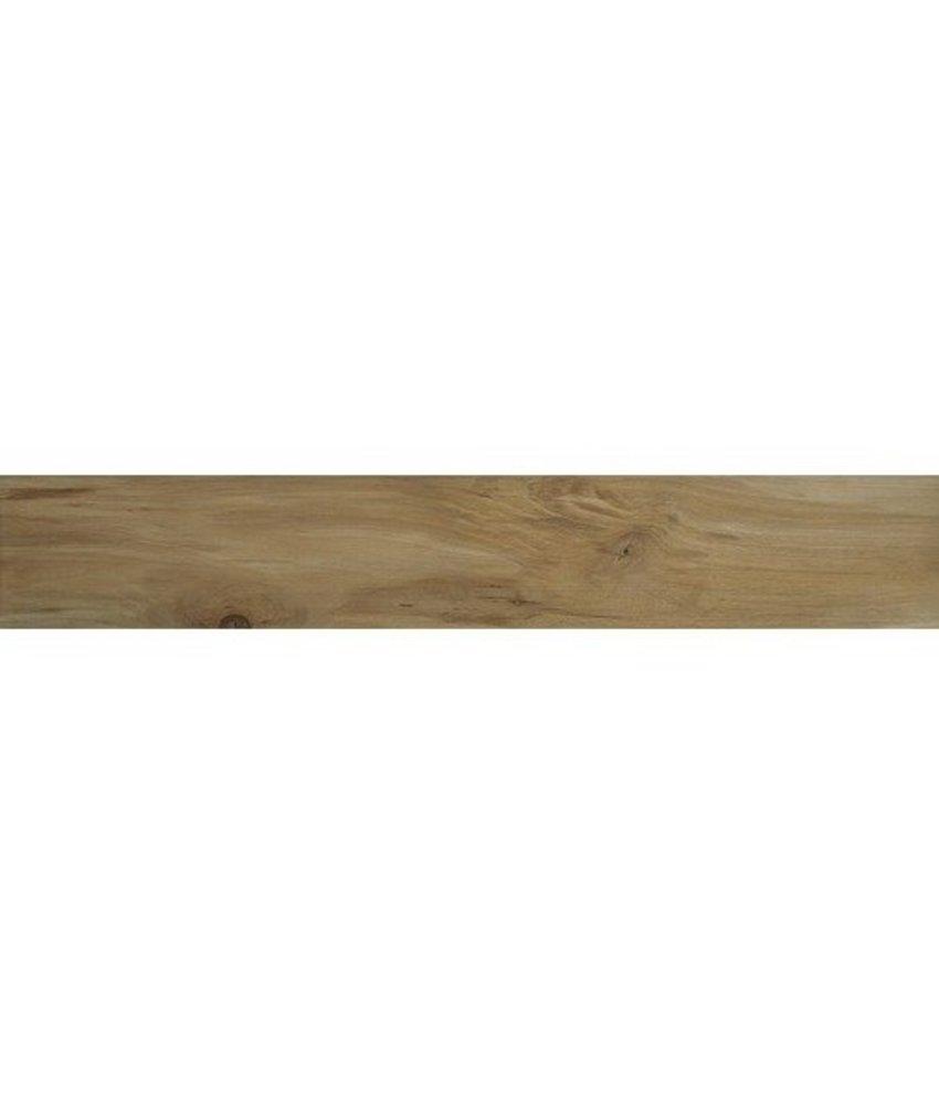 Bodenfliese Tavla Beige Feinsteinzeug glasiert matt - 20 cm x 120 cm x 0,9 cm