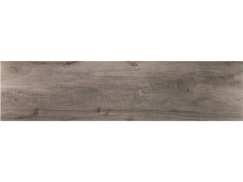 Bodenfliese Timberwood Grigio Feinsteinzeug glasiert matt - 30 cm x 120 cm x 1 cm