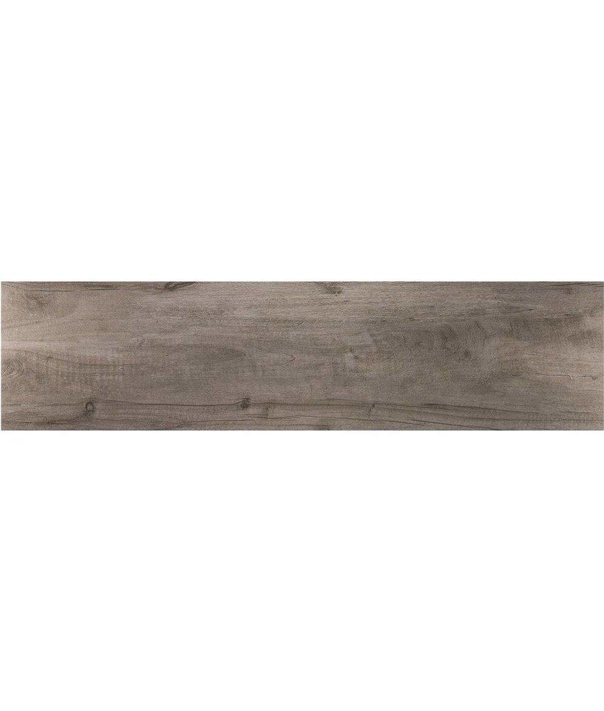 Bodenfliese Timber Grigio Feinsteinzeug glasiert matt - 30 cm x 120 cm x 1 cm