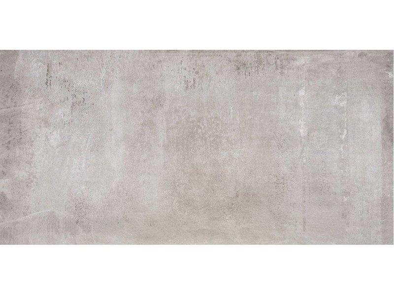 Bodenfliese Tribeca Hellgrau Feinsteinzeug poliert - 60 cm x 120 cm x 1 cm