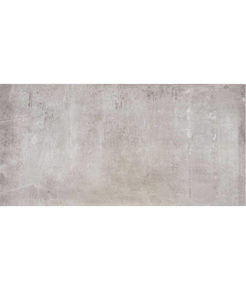 Bodenfliese Beca Hellgrau Feinsteinzeug poliert - 60 cm x 120 cm x 1 cm