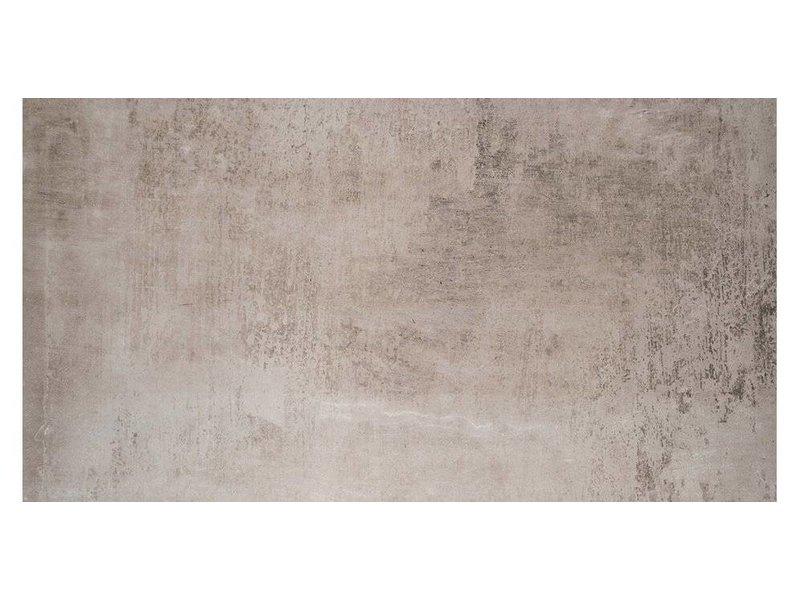 Bodenfliese Beca Grau Feinsteinzeug matt - 60 cm x 120 cm x 1