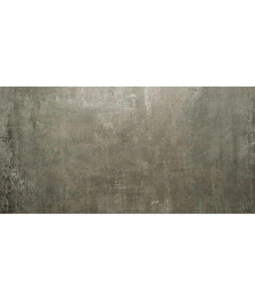 Bodenfliese Tribeca Dunkelgrau Feinsteinzeug matt - 60 cm x 120 cm x 1