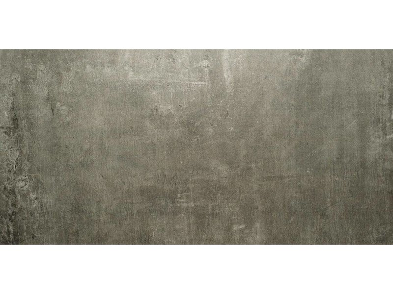 Bodenfliese Beca Dunkelgrau Feinsteinzeug poliert - 60 cm x 120 cm x 1 cm