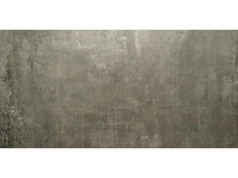Bodenfliese Tribeca Dunkelgrau Feinsteinzeug poliert - 60 cm x 120 cm x 1 cm