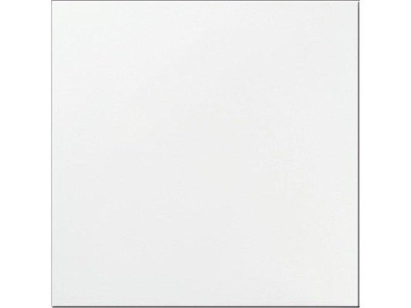 Bodenfliese Uno Weiß Feinsteinzeug poliert - 60 cm x 60 cm x 1 cm