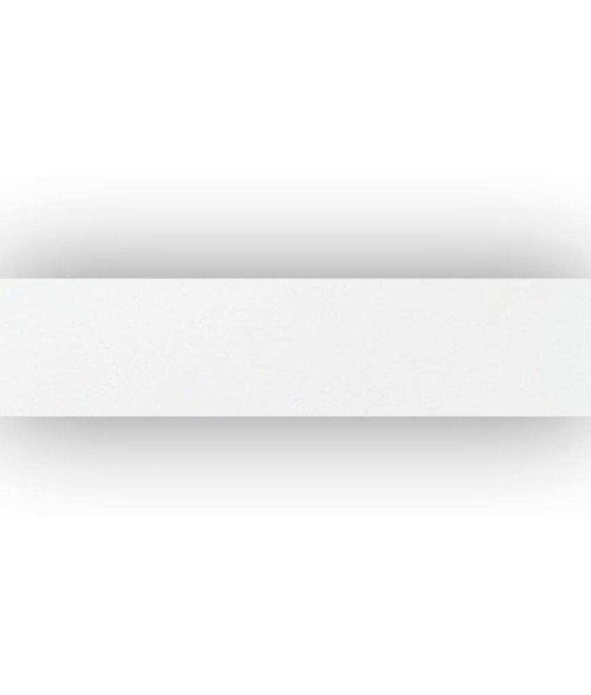 Sockel Uni Weiß Feinsteinzeug poliert - 7 cm x 30 cm x 1 cm