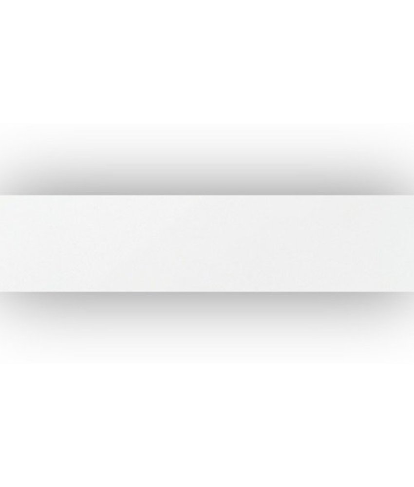 Sockel Uno Weiß Feinsteinzeug poliert - 7 cm x 60 cm x 1 cm