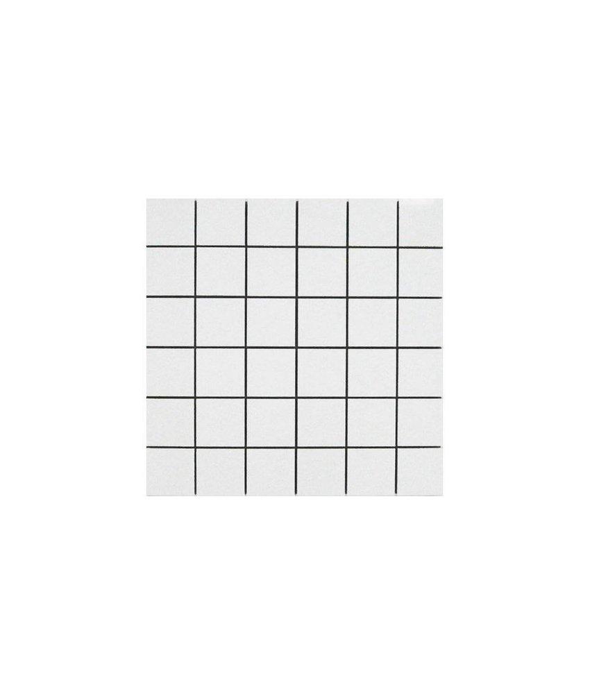 Mosaik Uni Weiß Feinsteinzeug poliert - 30 cm x 30 cm x 1 cm