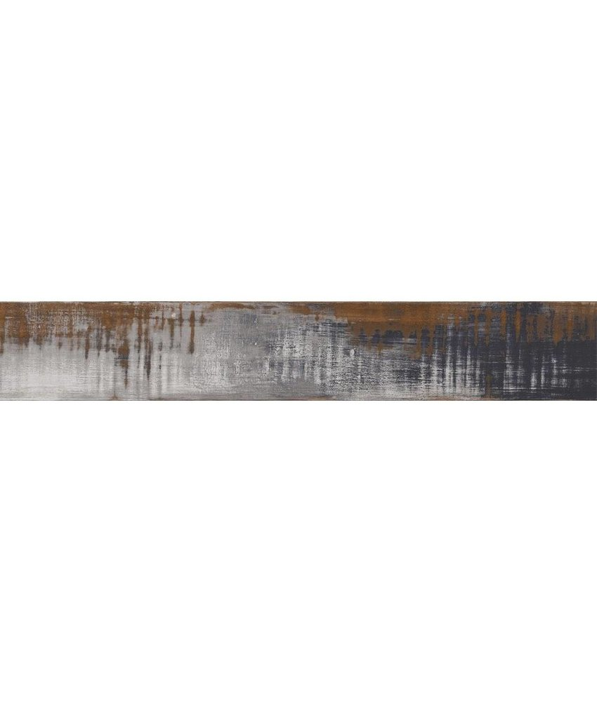 Bodenfliese Urbanwood Ocean Feinsteinzeug glasiert matt - 20 cm x 120 cm x 1,1 cm