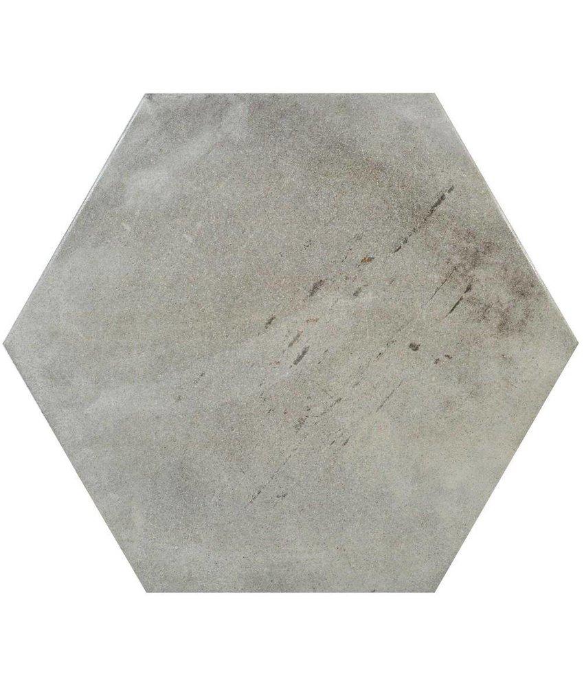Mosaikfliese Varese Hexagon Grigio Feinsteinzeug glasiert matt - 52 cm x 60 cm x 1 cm