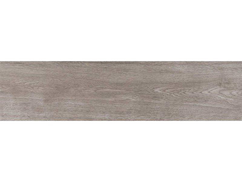 Bodenfliese Woodland Grau Feinsteinzeug glasiert matt - 25 cm x 100 cm x  0,8 cm