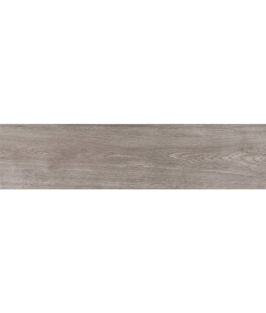 Bodenfliese Mood Grau Feinsteinzeug glasiert matt - 25 cm x 100 cm x  0,8 cm