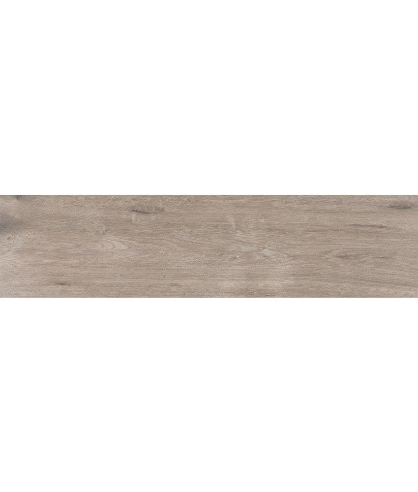 Bodenfliese Mood Taupe Feinsteinzeug glasiert matt - 25 cm x 100 cm x  0,8 cm