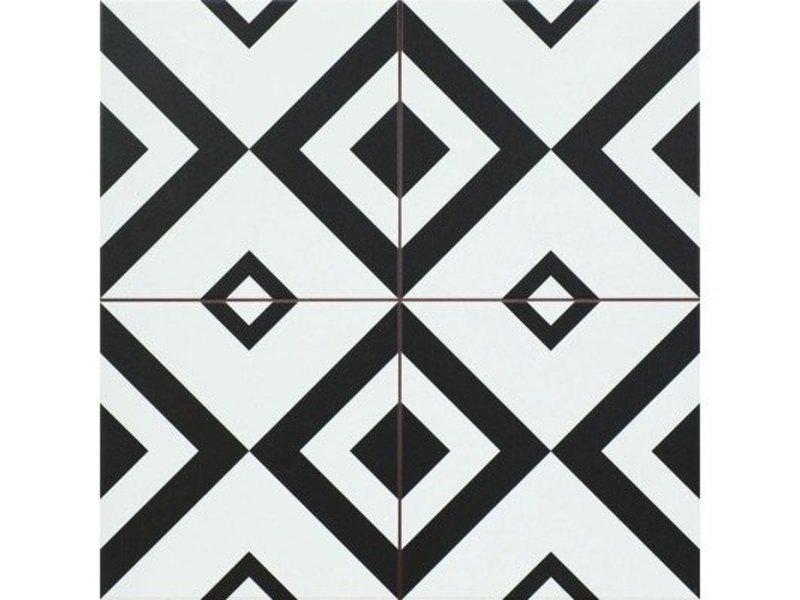 Bodenfliese Decora Brixton Feinsteinzeug matt - 45 cm x 45 cm x  1 cm