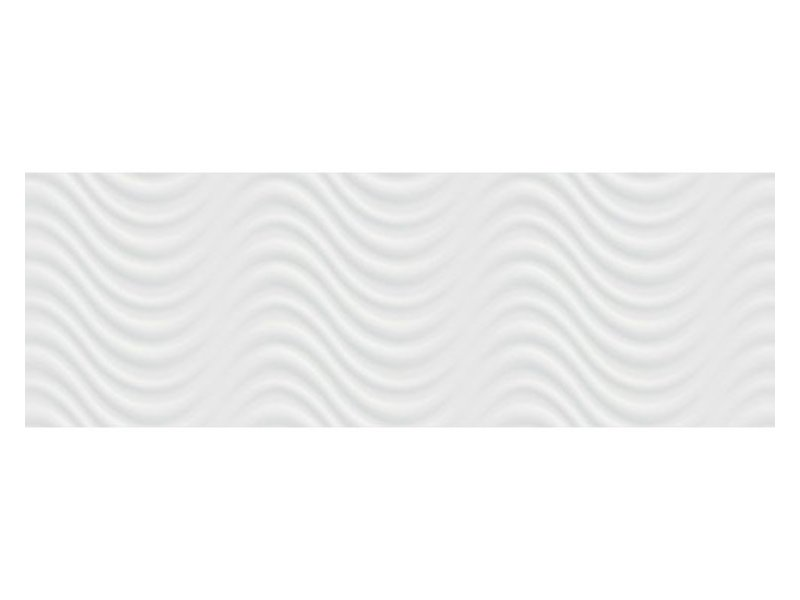 Wandfliese Donna Weiß 3D glänzend - 30 cm x 90 cm x 1 cm