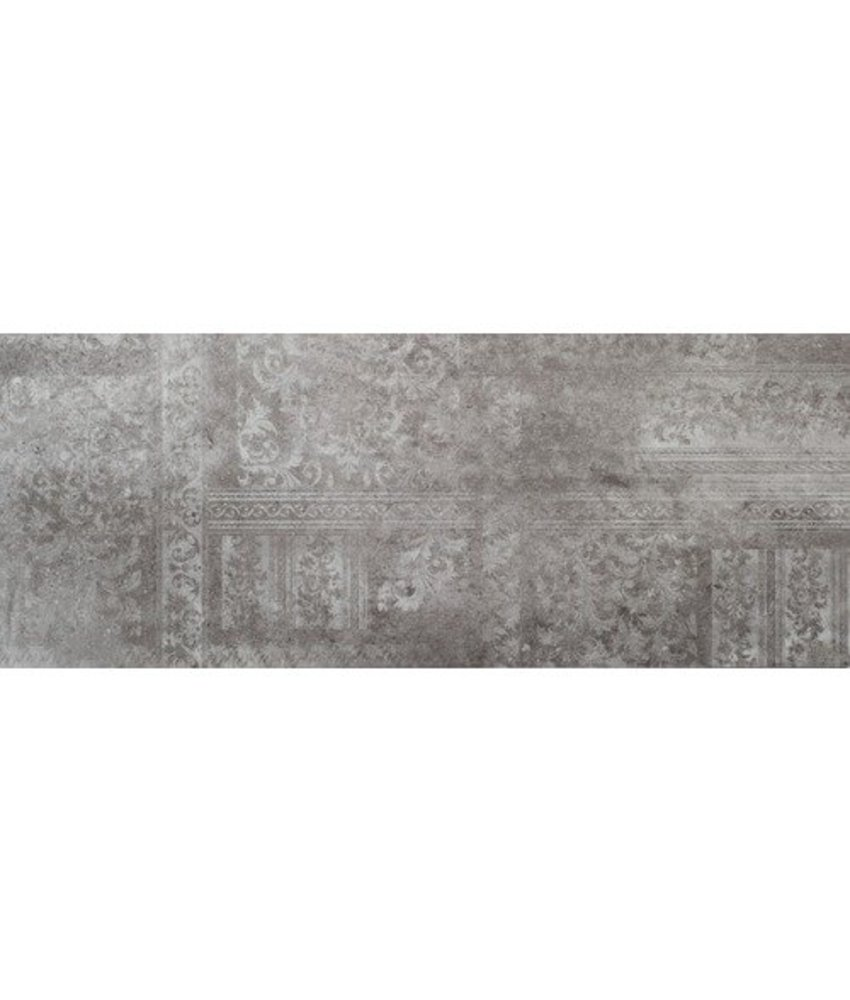 Wandfliese Madrid Light Grey Dekor glänzend - 30 cm x 75 cm x 1 cm