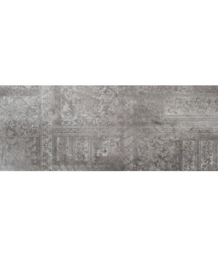 Wandfliese Peru Light Grey Dekor glänzend - 30 cm x 75 cm x 1 cm