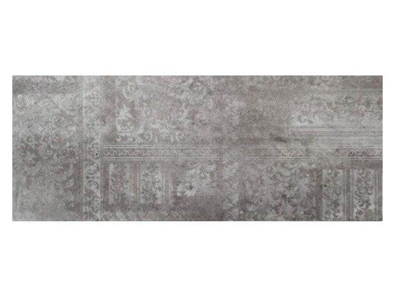 Wandfliese Madrid Dark Grey Dekor glänzend - 30 cm x 75 cm x 1 cm