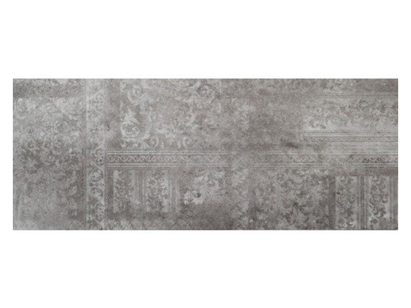Wandfliese Peru Dark Grey Dekor glänzend - 30 cm x 75 cm x 1 cm