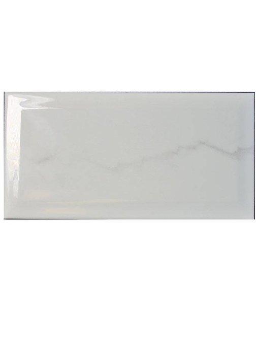 Facettenfliese Metro Carrara - 10 cm x 20 cm x 0,7 cm