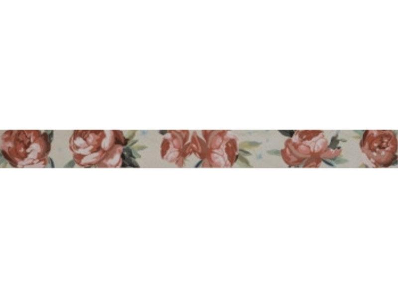 Pulpis Ecru Rose Bordüre glänzend - 60 cm x 6 cm x 0,9 cm