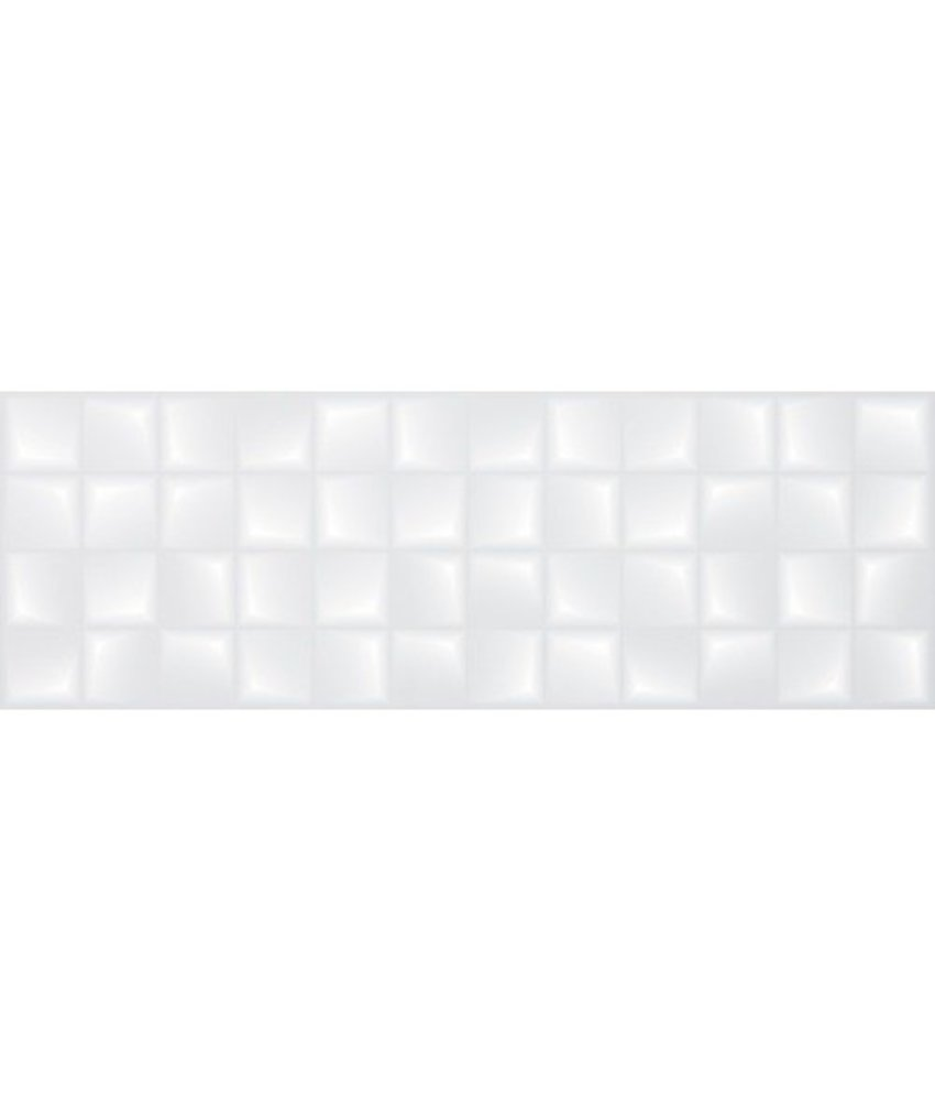 Wandfliese Quadra Weiß 3D matt - 30 cm x 90 cm x 1 cm