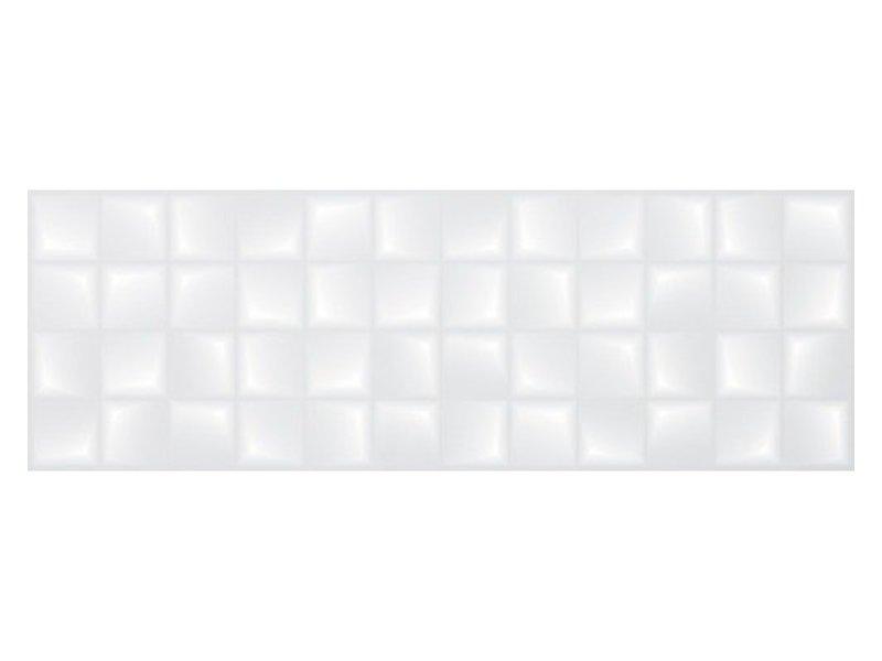 Wandfliese Forma Weiß 3D glänzend - 30 cm x 90 cm x 1 cm