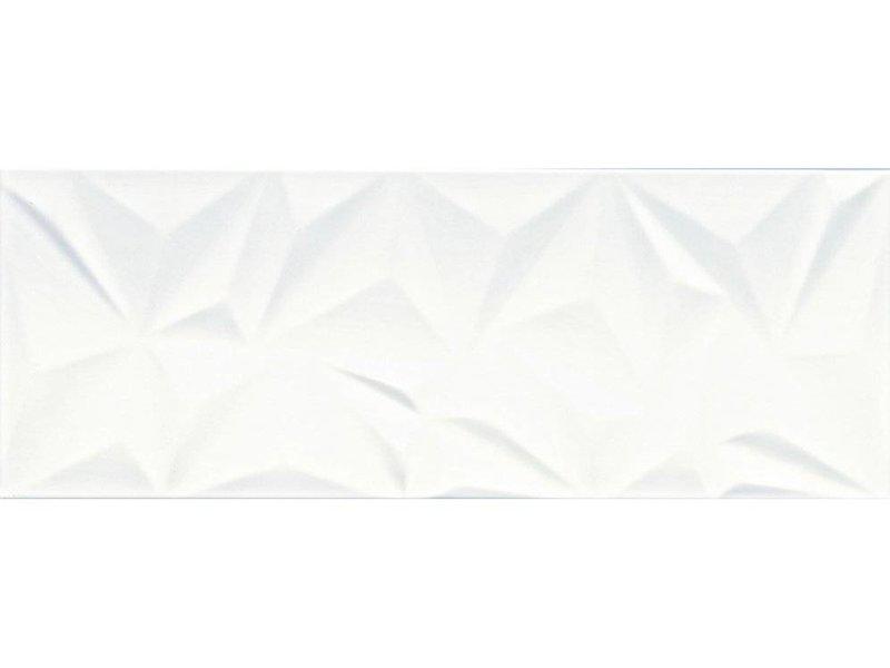 Wandfliese Structury White glänzend - 30 cm x 80 cm x 1 cm