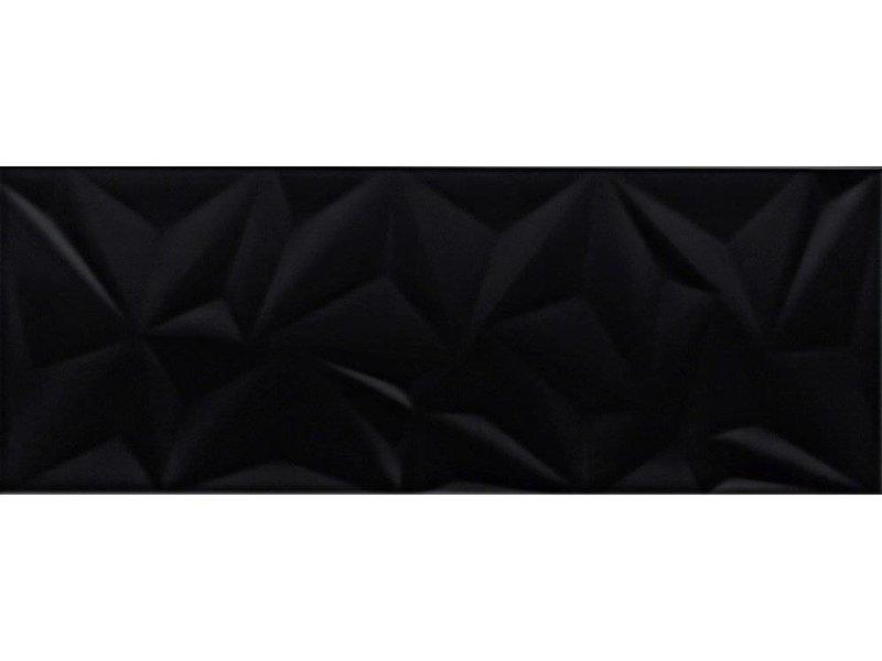 Wandfliese Structury Black glänzend - 30 cm x 80 cm x 1 cm
