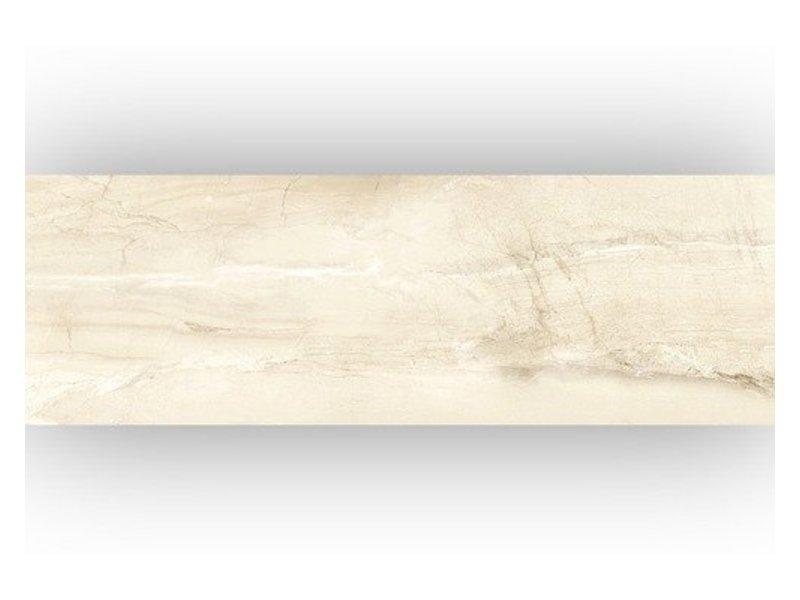 Wandfliese Terra Cream glänzend - 25 cm x 75 cm x 0,8 cm