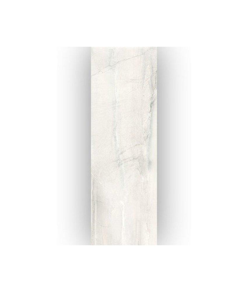 Wandfliese Terra White glänzend - 25 cm x 75 cm x 0,8 cm
