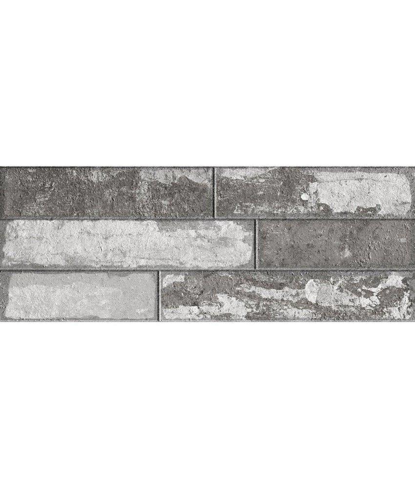 Wandverblender Avant Grau glasiert matt - 22,5 cm x 60 cm x 0,8 cm