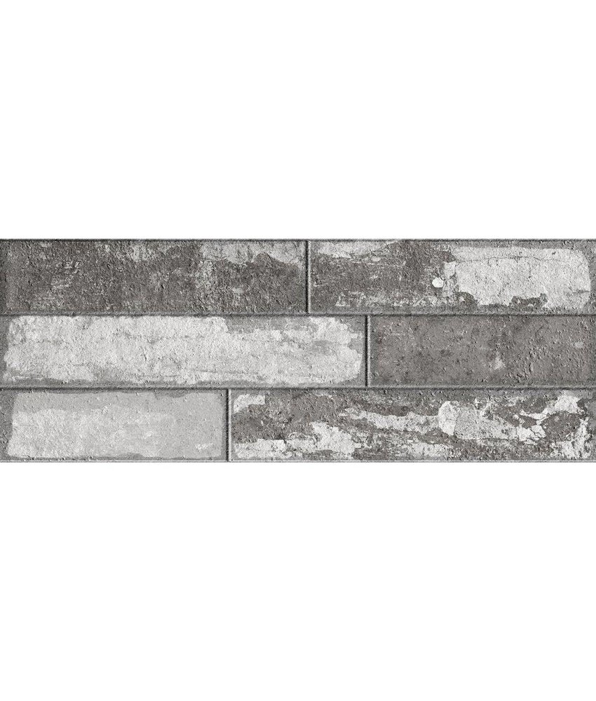 Wandverblender Bailen Grau glasiert matt - 22,5 cm x 60 cm x 0,8 cm