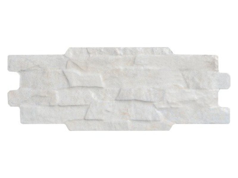 Wandverblender Cronos Ivory glasiert matt - Z15 cm x 37 cm x 0,9 cm