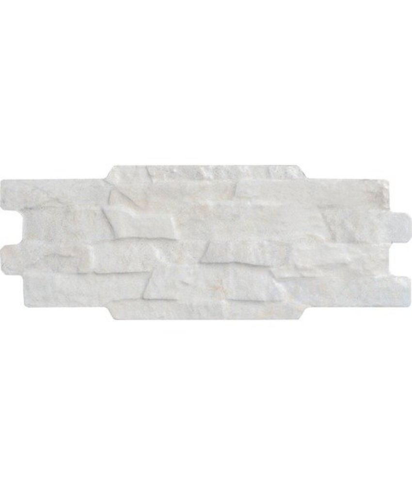 Wandverblender Crous Ivory glasiert matt - Z15 cm x 37 cm x 0,9 cm