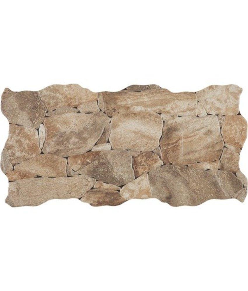 Wandverblender Miranda Naturale Feinsteinzeug glasiert matt - ~23 cm x 47 cm x 0,8 cm