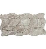 Wandverblender Miranda Crema Feinsteinzeug glsiert matt - ~23 cm x 47 cm x 0,8 cm