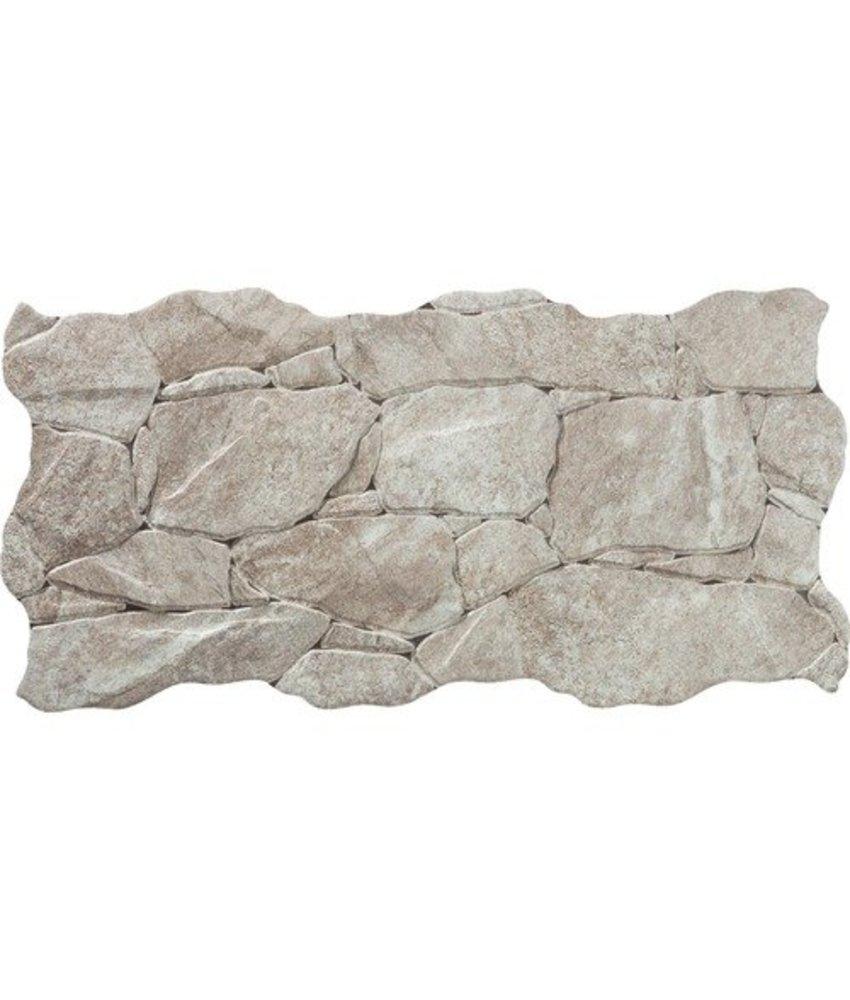 Wandverblender Miranda Crema Feinsteinzeug glasiert matt - ~23 cm x 47 cm x 0,8 cm