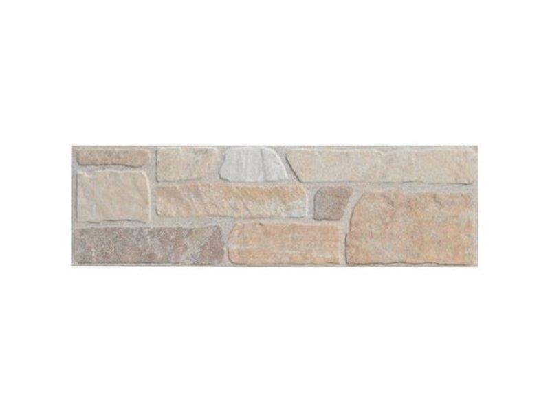 Wandverblender Quarzito Beige Steinzeug glsiert matt - 15 cm x 49,5 cm x 0,7 cm