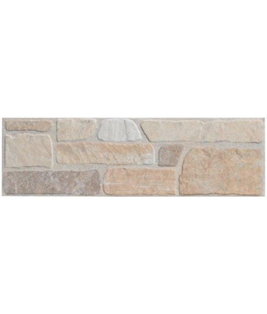 Wandverblender Quarzito Beige Steinzeug glasiert matt - 15 cm x 49,5 cm x 0,7 cm